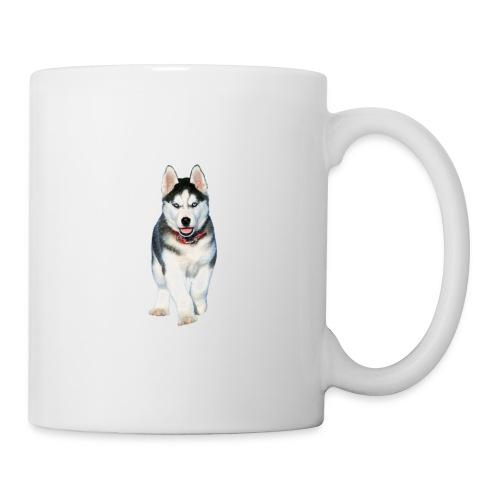 Husky Welpen mit bezaubernden Augen - Tasse