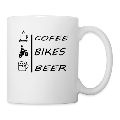 COFEE BIKERS BEER - Mug blanc