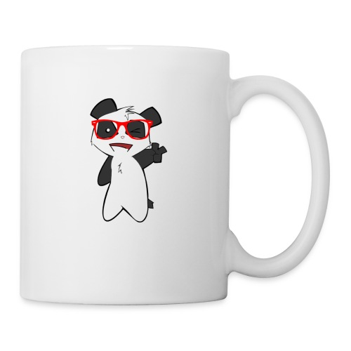 ours good lunette rouge - Mug blanc
