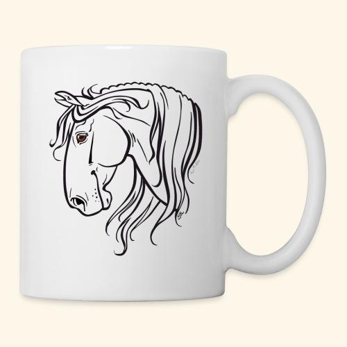 Cheval espagnol (noir) - Mug blanc