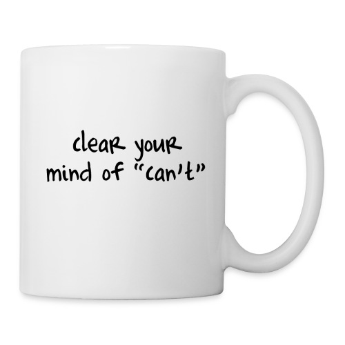 ''Clear your mind of Can't'' Motivational T-shirts - Tazza