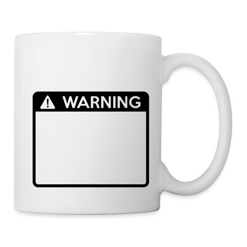 Warning Sign (1 colour) - Mug