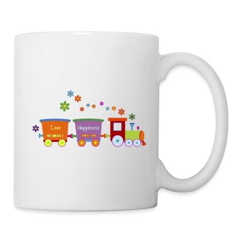 Eisenbahn Kinderspielzeug Zug Frühlingsblumen bunt - Mug