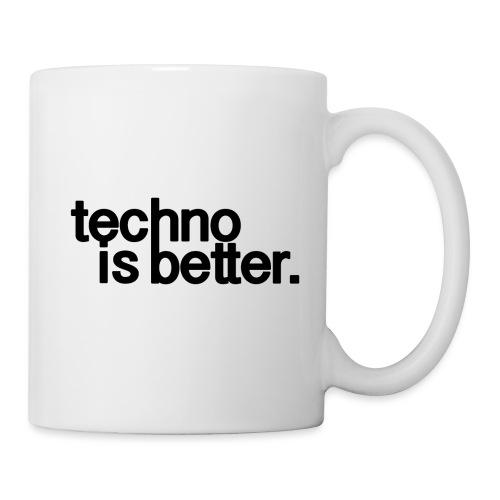 techno is better logo - Kubek