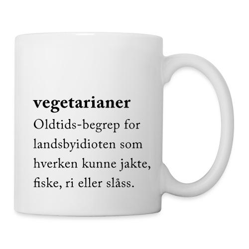 Vegetarianer definisjon - Kopp