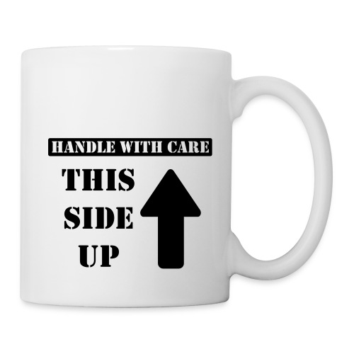 Handle with care / This side up - PrintShirt.at - Tasse