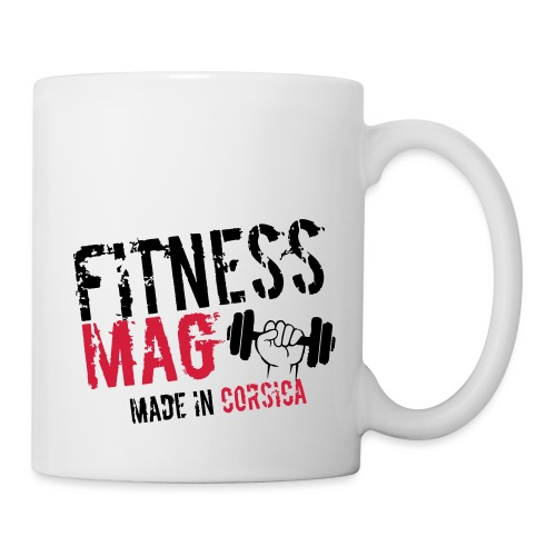 Fitness Mag made in corsica 100% Polyester - Mug blanc