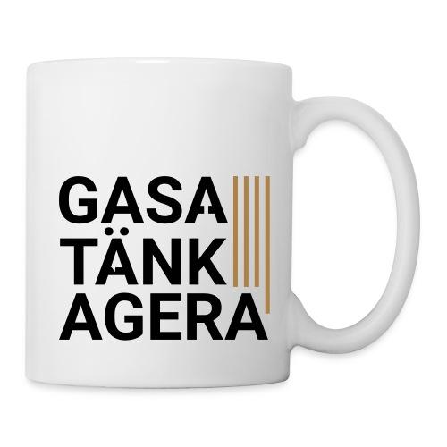 T-shirt för inspiration. Gasa-Tänk-Agera - Mugg