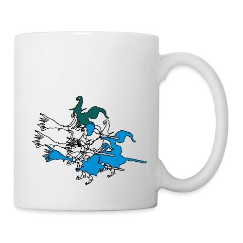 Witches on broomsticks Men's T-Shirt - Mug
