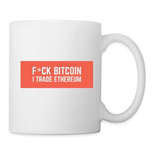 F*CK BITCOIN - Mug blanc