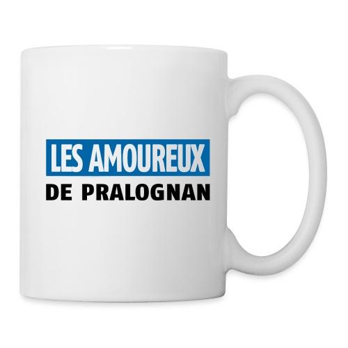 les amoureux de pralognan texte - Mug blanc