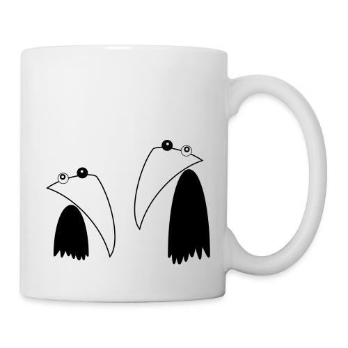 Raving Ravens - black and white 1 - Mug blanc
