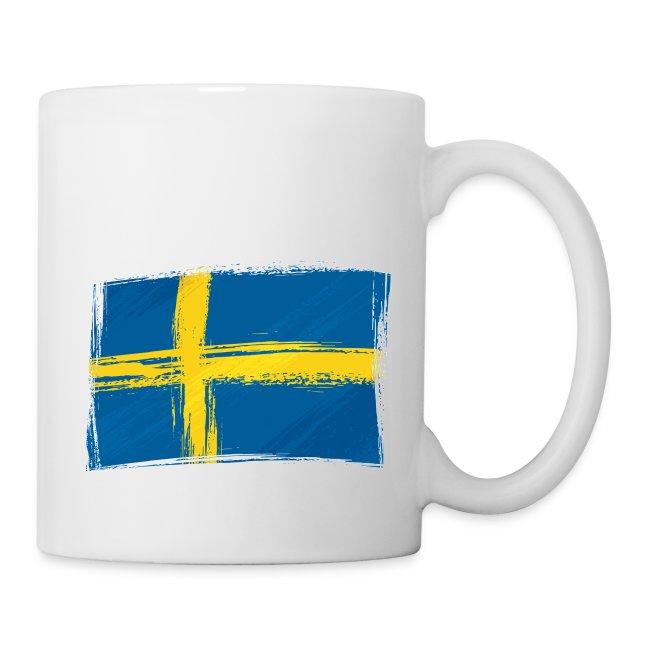 Flagge Schweden Fahne gefleckt Flag of Sweden
