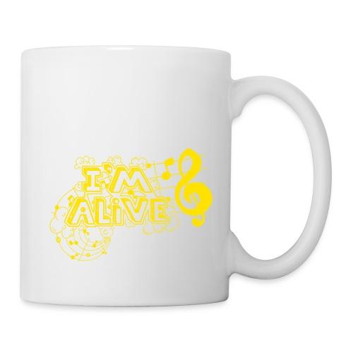 i m alive geel png - Mok