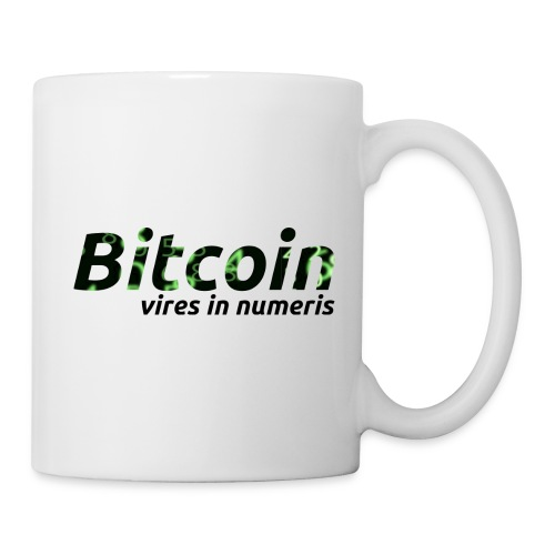 Bitcoin Matrix: Vires in numeris(Bitcoin Geschenk) - Tasse
