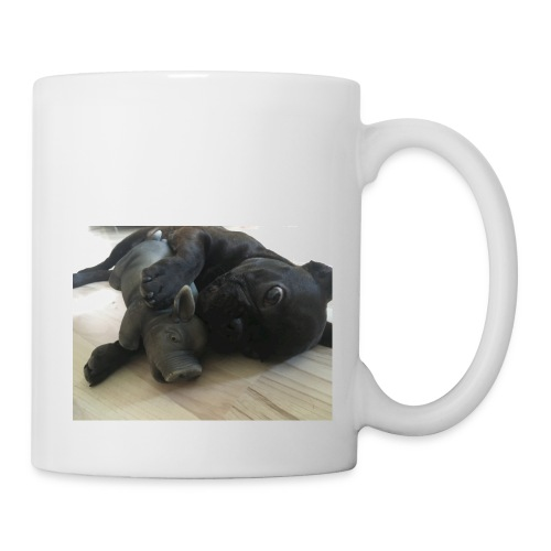 kuschelnder Hund - Tasse