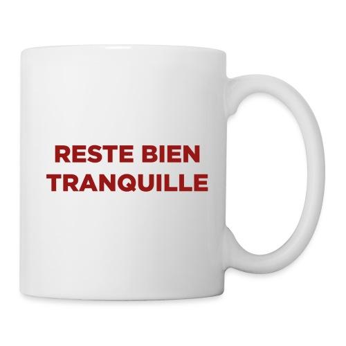 Logo Reste Bien rouge - Mug blanc