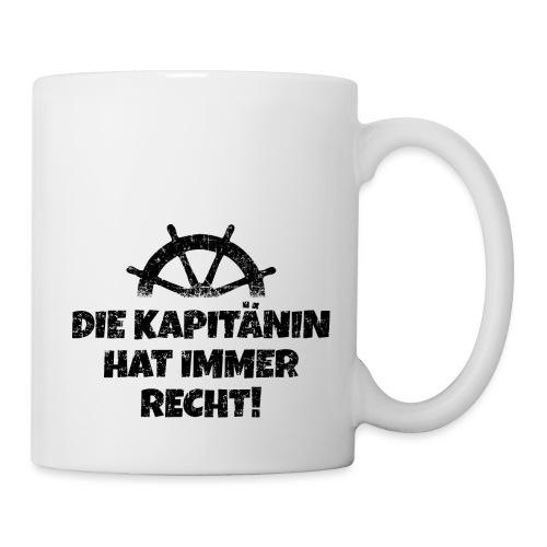 Die Kapitänin hat immer Recht Boot & Segeln - Tasse