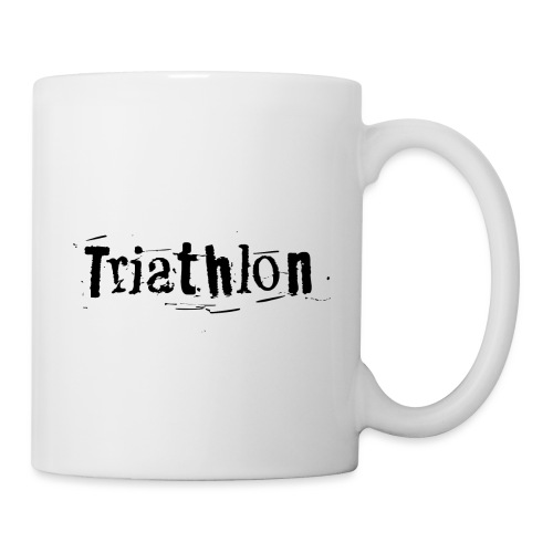 Triathlon Letter Art - Tasse