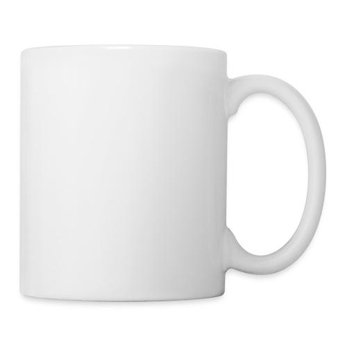 the walking dad white text on black - Mug