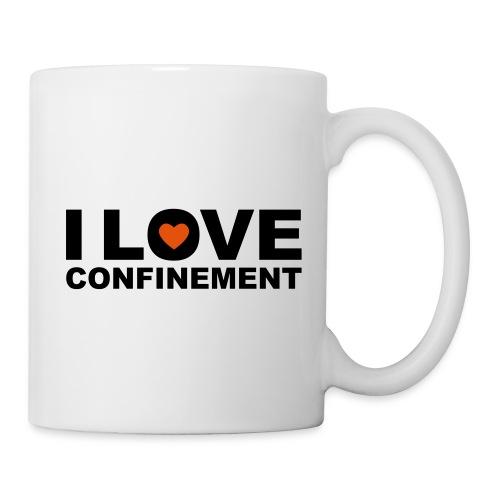 j aime le confinement - Mug blanc