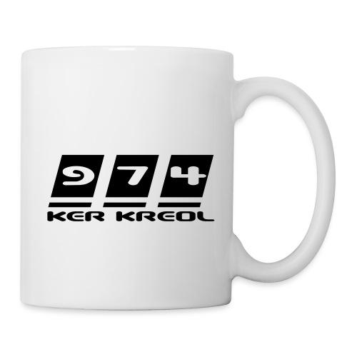 Logo écriture 974 Ker Kreol - Mug blanc