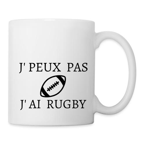 J'peux pas J'ai rugby - Mug blanc