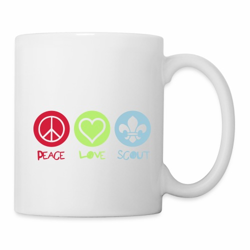 Peace Love Scout - Mug blanc
