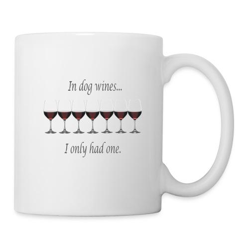 dog wines ovaal - Mok