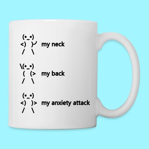neck back anxiety attack - Mug