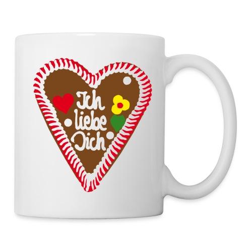 Lebkuchenherz Ich liebe Dich - Tasse