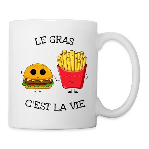 Le gras c'est la vie - Mug blanc