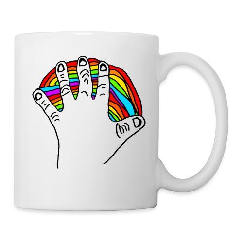 Anna's rainbow hand for peace - Kopp