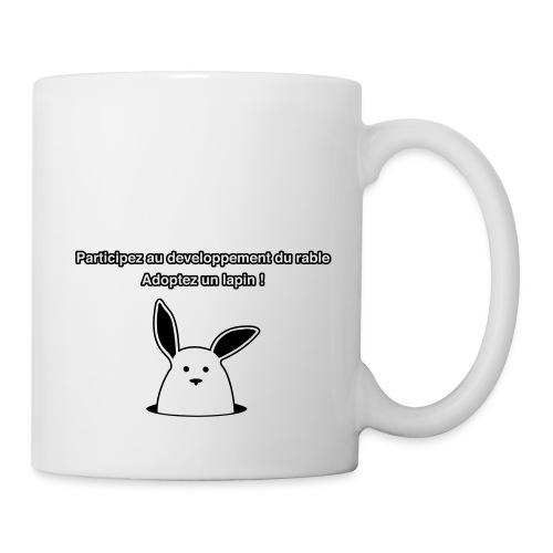 adoptez un lapin ! - Mug blanc