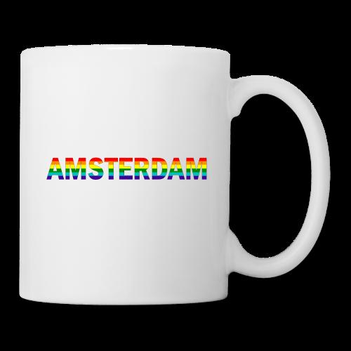 Amsterdam in gay pride rainbow kleuren - Mok