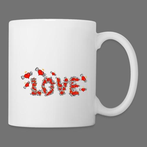 Latające miłości serc - Kubek