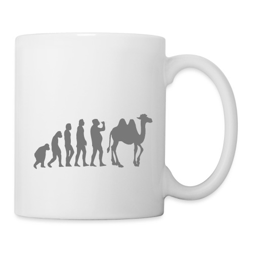 evolution_chameau2 - Mug blanc