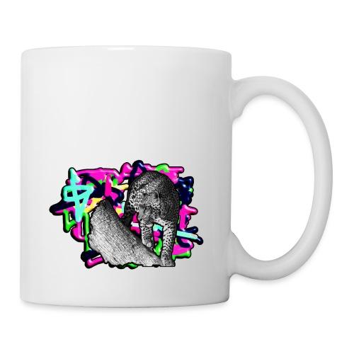 Leopard auf Bunt - Tasse