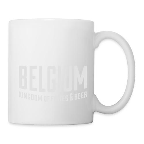 Belgium kingdom of frites & beer - Mug blanc