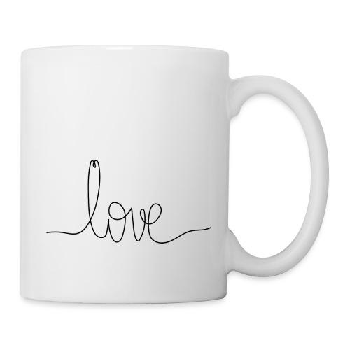 Logo Love au Trait - Mug blanc