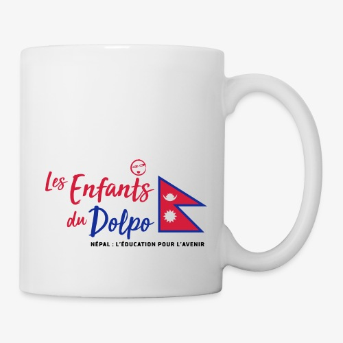 Les Enfants du Doplo - Grand Logo Centré - Mug blanc