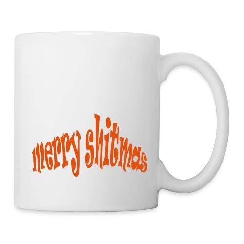 Foute kerst T-shirt Merry Shitmas - Mok