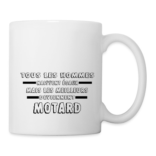 hommes motards moto cadeau motard - Mug blanc