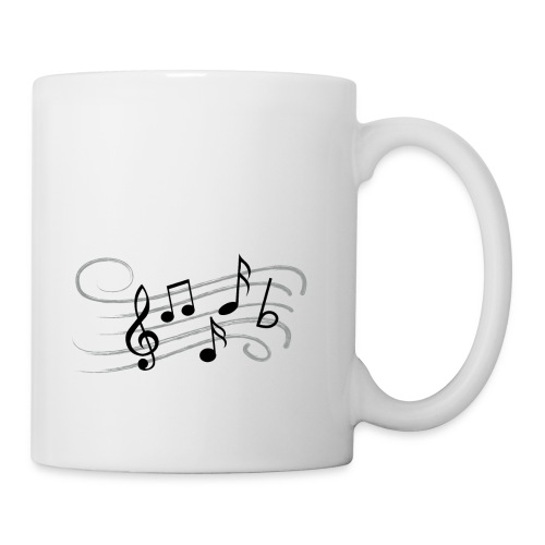 Muzikale bladmuziek muzieknoten patroon. Muziek - Mok