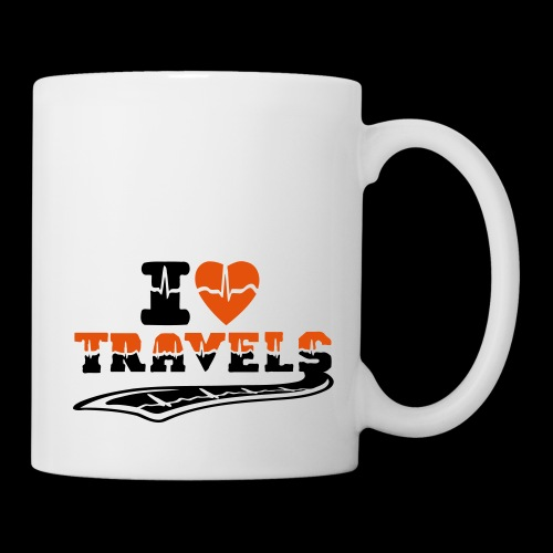 i love travels surprises 2 col - Mug