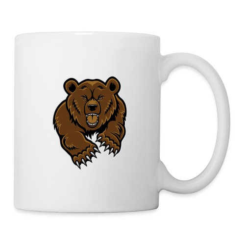 mean bear face clipart 1 jpg - Mug