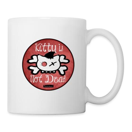 kitty is not dead logo - Mug blanc