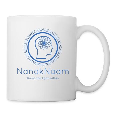 Nanak Naam Logo and Name - Blue - Mug
