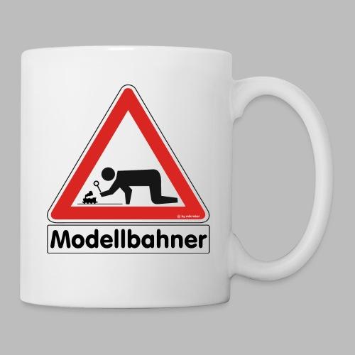 Warnschild Modellbahner Dampflok - Tasse