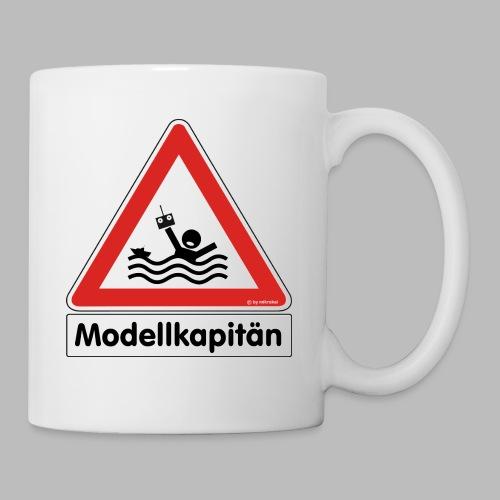 Warnschild Modellkapitän - Tasse